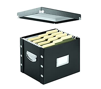 Snap-N-Store Jumbo Magazine File Box, Black Fiberboard with Content Label Holder, 4.50 Inches Width x 11.25 Inches Depth (SNS01637)