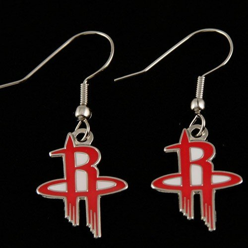 Houston Rockets - NBA Team Logo Dangler Earrings (Houston Rockets Earring)