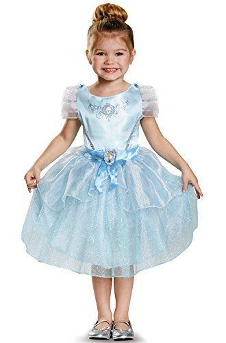 Disguise 82902S Cinderella Toddler Classic Costume, Small (2T) (Disney Princess Girls Cinderella Classic Costume)