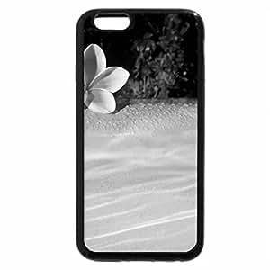 iPhone 6S Plus Case, iPhone 6 Plus Case (Black & White) - Plumeria floating on Pool