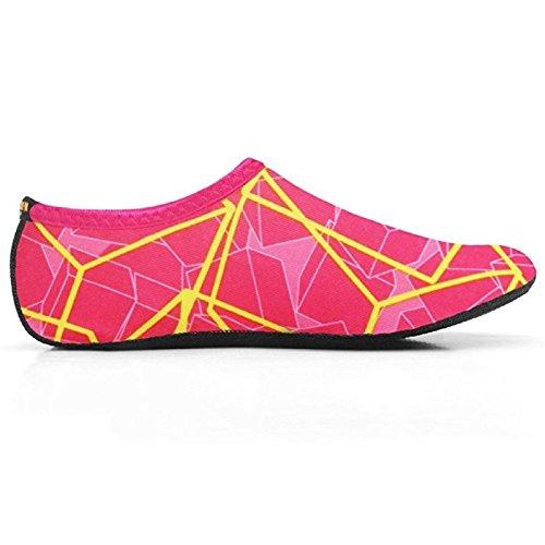 Wowfoot Nbera Vatten Barfota Hud Skor Aqua Strumpor Flexibel Strand Simma Surf Sand Pool Yoga Aerobics Övning Zapatos De Agua Pink-gul