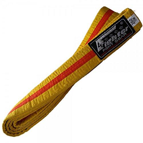 4Fighter Karate Belt yellow-orange in 260cm