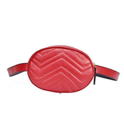 Chest Red Color Shoulder Black Kanpola Women Leather Messenger Fashion Pure Bag 8Ww4v1Fa