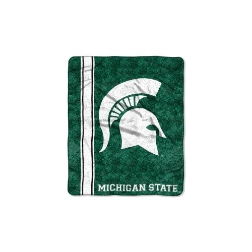 The Northwest Company Officially Licensed NCAA Michigan State Spartans Jersey Sherpa on Sherpa Throw Blanket, 50