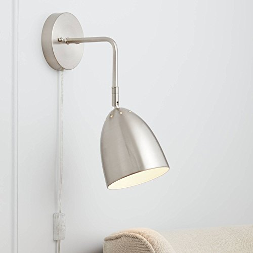 Byers Brushed Nickel Down-Light Pin-Up Wall Lamp - 360 Lighting -