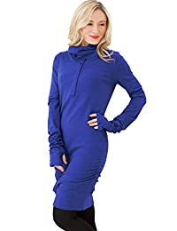 Sweet Mommy Loose Turtleneck Nursing and Maternity Long Sleeve Tunic Top