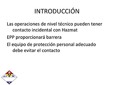 Amazon.com: SPANISH HAZMAT PERSONAL PROTECTIVE EQUIPMENT PPT TRAINING PRESENTATION HAZARDOUS MATERIALS