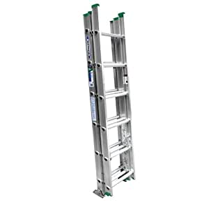 Werner D1216-3 16-Feet 225-Pound Aluminum 3 section Compact Extension ladder