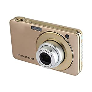 GordVESJB008 2.7 Inch TFT 5X Optical Zoom 15MP 1280x720 HD Anti-Shake Smile Capture Digital Video Camera-Gold