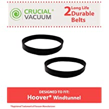 2 Hoover WindTunnel Vacuum Cleaner Windtunnel Agitator Belts, Pack of 2; Replaces Part#40201160, 38528033; Designed and Engineered by Crucial Vacuum