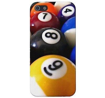 BILLIARDS 8 9 Ball Pool Rack Cue CUSTOM Cover Case Skin iPhone 5 5S Models
