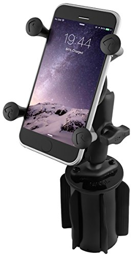 RAM MOUNTS (RAP-299-3-UN7BU Ram-A-Can Ii Universal Cup Holder Mount with Universal X-Grip Cell/Iphone Holder