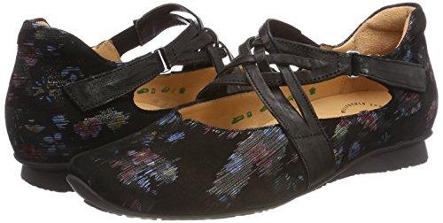 282109 Black Ballet Ankle sz Flats Strap Women's kombi Chilli 09 Think 0nwXEqUO66