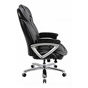 Big & Tall Executive Office Chair, High Back Bonded Leather Office Big Size1432L