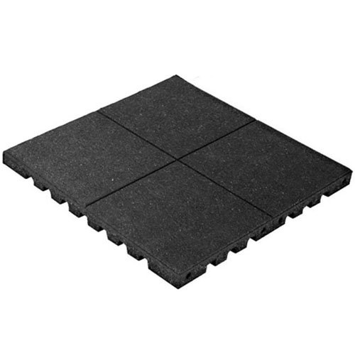 PlayFall Playground Safety Surfacing Black Pallet of 80 Tiles - 2' x 2' Rubber Tiles (320 sq. ft.) 1.75'' Thickness by KIDWISE
