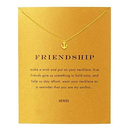 SEWEI Anchor Necklace Pendant Graduation Gift (Anchor)