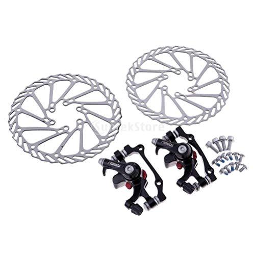 Tongli G3 Rotors Mechanische schijfrem (F-160 mm/R-140 mm) F-180 mm/R-160 mm) + schijf (mechanisch)