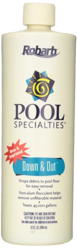 Robarb 20125A Pool Down and Out Flocculent, 32-Ounce (Drop Down Pool)