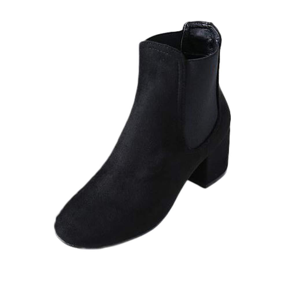 Stiefel Damen Schuhe Damenstiefel Herbst Winter Stiefel Stiefelies Platz High Heel Ankle Stiefelies Stiefel Knöchel Knoten Klassische Freizeitschuhe Stiefel (Farbe   schwarz , Größe   39 EU) fd6f32