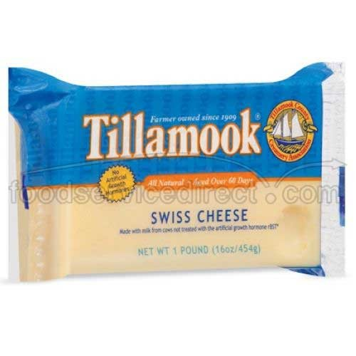 Tillamook Swiss Cheese, 1 Pound -- 12 per case. by Tillamook