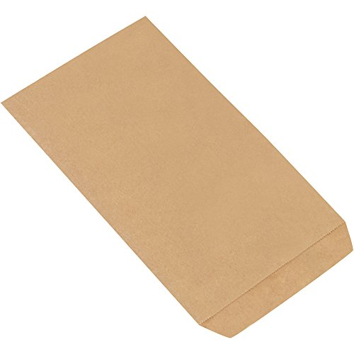 Flat Merchandise Bags, 6 1/4'' x 9 1/4'', Kraft, 3000/Case by Choice Shipping Supplies (Image #1)