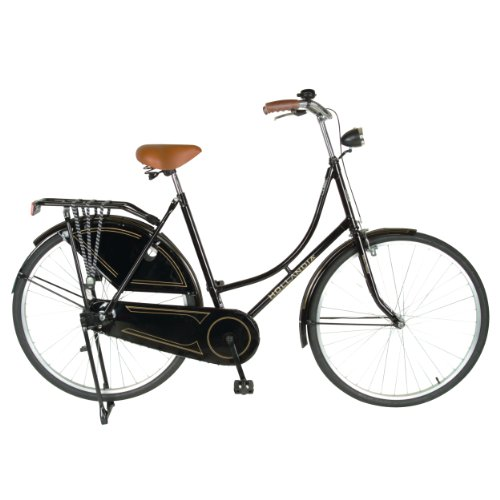 Hollandia Oma Dutch Cruiser Citi Bike with Chain Guard and Dress Guard, 28 inch Wheels, 19 inch Frame, Women's Bike, Black