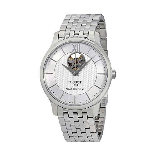 Tissot Men's Tradition Powermatic 80 Open Heart - T0639071103800 Silver/Grey One ()