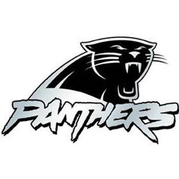 (NFL Carolina Panthers Chrome Automobile Emblem)