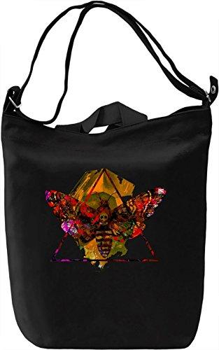 Skull Moth Borsa Giornaliera Canvas Canvas Day Bag| 100% Premium Cotton Canvas| DTG Printing|