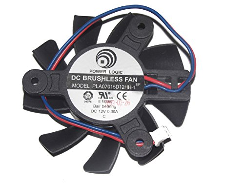 Power Logic PLA07015D12HH-1 12V 0.3A 2Wire Cooling Fan by General