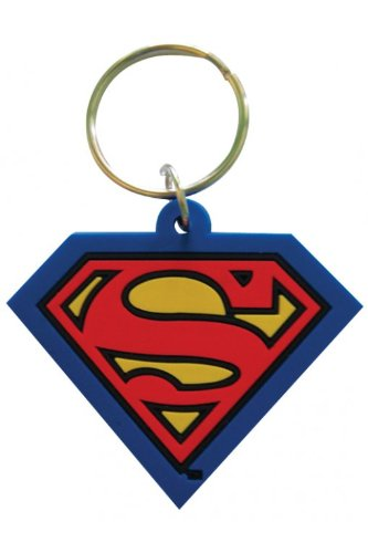 Amazon.com: Superman - Dc Comics Rubber Keychain / Key Ring ...