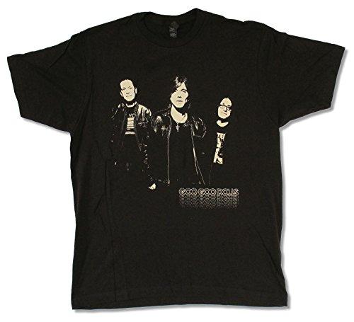 "Adult Goo Goo Dolls ""Shadow Photo Tour 2013"" Black T-Shirt (Small)"