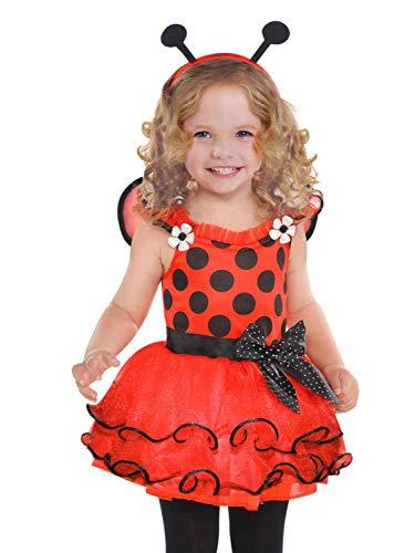Goodmark Toddler Girls Red Polka Dot Little Ladybug Costume Lady Bug Dress 2T