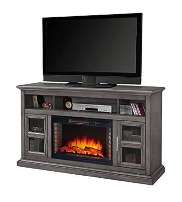 "Muskoka Glendale 58"" Media Electric Fireplace-Dark Weathered Grey"