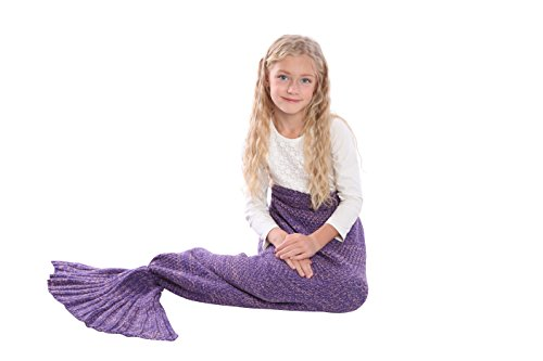 Mermaid Tail Blanket Knit Crochet and Scale Mermaid Blanket for Adult,Sleeping Blanket (55''x28'', (Mummy King Adult Costume)