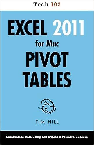 amazon com excel 2011 for mac pivot tables tech 102