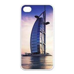 Custom Dubai Burj Al Arab Unique Iphone 4 4S Protective Rubber TPU cover