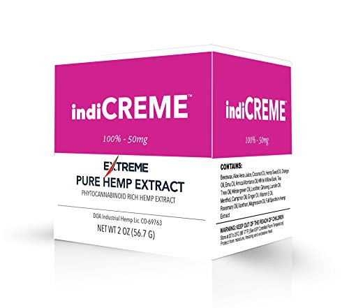 indiCREME Extreme Formula Topical Cream All-Natural Ingredients – 2 Ounce Jar