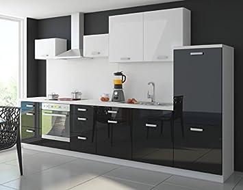 Amazon.de: Küche Color 340cm Küchenzeile Küchenblock Einbauküche in ...
