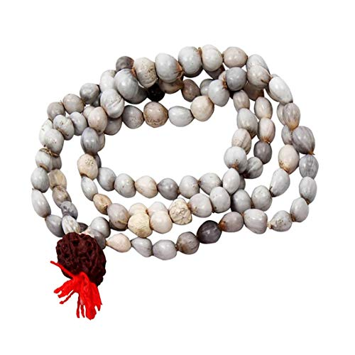 VRINDAVANBAZAAR.COM Rosary Energized Beads Seeds Vaijanti Mala for Attraction and Spiritual Protection Wearing, Pooja Mantra Chanting ()