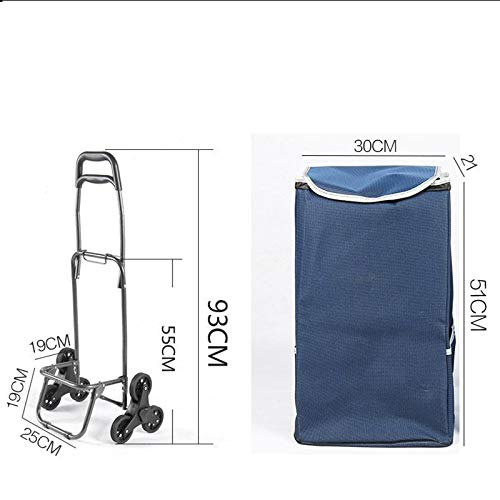 Vineyard Trolley Luggage Climbing Shopping cart, Folding Trailer Trolley car Household Portable Trolley (Color : Brown)
