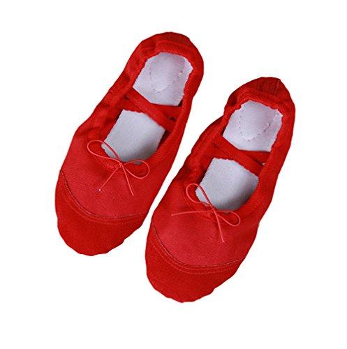 Avacostume Scarpe Da Danza Classica In Pelle Per Danza Del Ventre Rosso