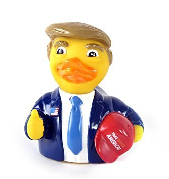 Keychain Patriotic Star - CelebriDucks The Donald Rubber Duck - Take Quack America Bath Toy