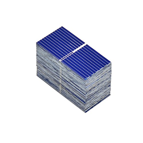 412ANXBeciL - Aoshike 100pcs 0.12W 0.5V 0.24A 39x19mm/1.53x0.75inch Micro Solar Cells For Solar Panels Polycrystalline Silicon mini Solar Panel Solar Cell DIY Charger Battery