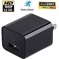 HD 1080P Camera USB Wall Plug Charger Adapter 32G Spy Hidden Camera Recorder