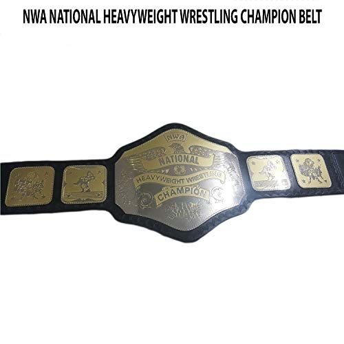 Vitalusa NWA National Heavyweight Wrestling Champion Belt NWA Belt Replica Dual Plated Title Belt (Nwa Belt Replica)