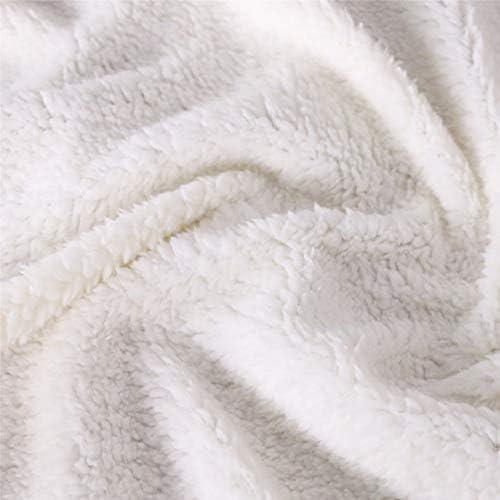 LYDXD Couverture Sapin De Noël Chaussette 3D Imprimer Polaire Sherpa Couverture Douce Confortable Couverture À La Maison Enfants Cadeau E 130x150cm