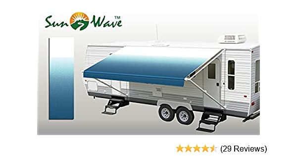 Amazon Sunwave Awning Fabric Ocean Blue Fade 17 Approximate