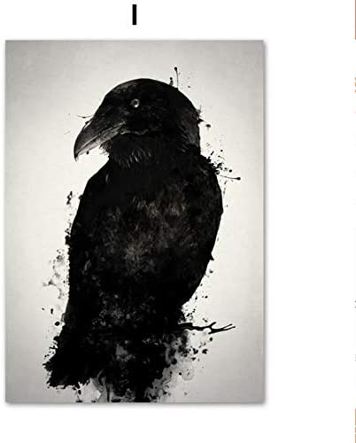 Sdfsd Chinese Style Ink Painting Cyberbots Japanese Samurai Elk Raven Assassin Ninja Crow Deer Eagle Wall Art Canvas Painting Nordic Posters And Prints Kids Room Decor 60 100cm Amazon Co Uk Kitchen