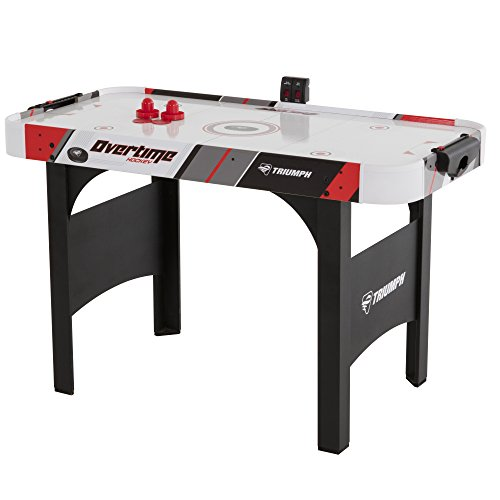 Triumph Overtime 48″ Air-Powdered Hockey Table Includes 2 Strikers and 2 Pucks Perfect for Junior-Sized Players
